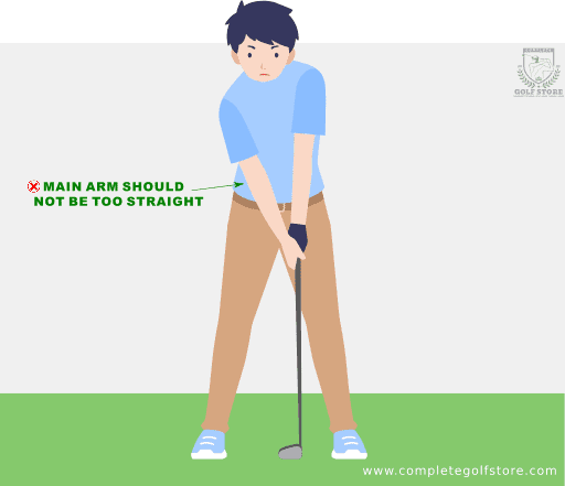 golf swing Mistake #1: Arms Too Straight