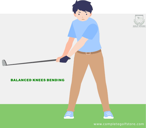 Golf Swing Mistake #3: Bending Your Knees Too Much Or Too Little