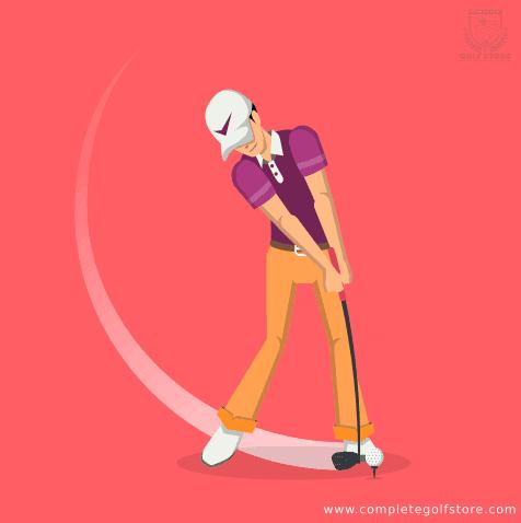 Golf downswing illustration