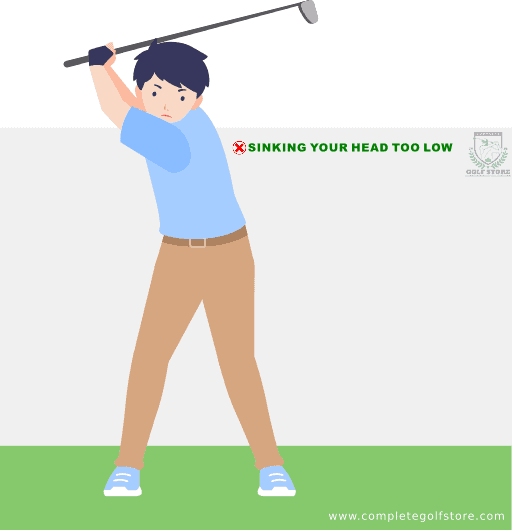Golf Swing Mistake #5: Sinking Your Head Too Low