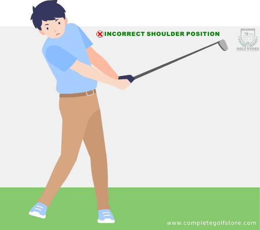Golf Swing Mistake #4: Bending Your Shoulders Too Much On The Front