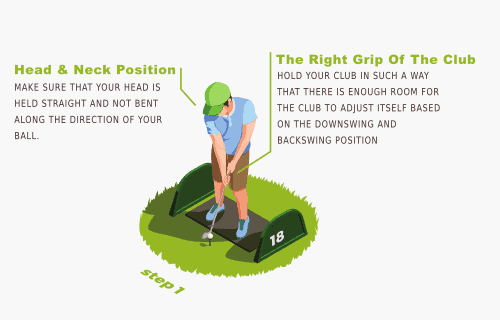 Getting in position golf swing