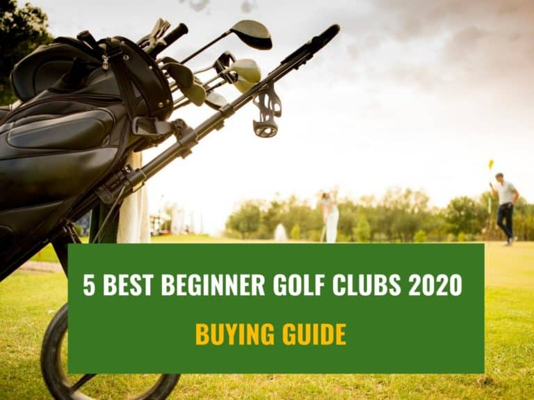 Golf clubs in a bag close photo with the text: best golf clubs for beginners