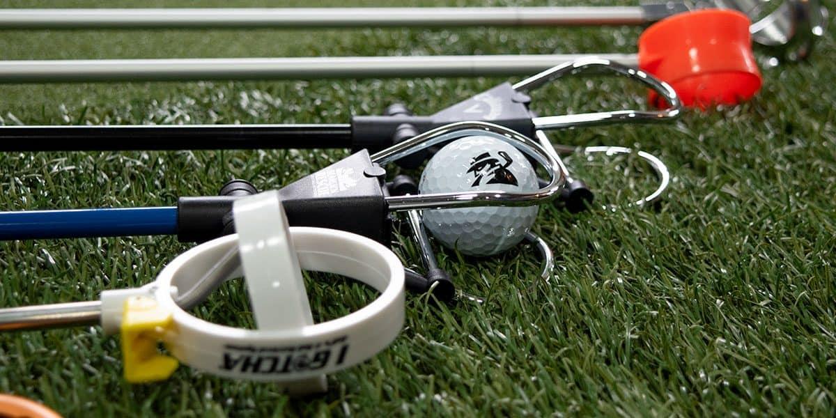 Close photo of golf ball retrievers