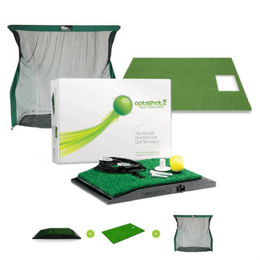 Optishot Golf Simulator Package With Pro Series Net