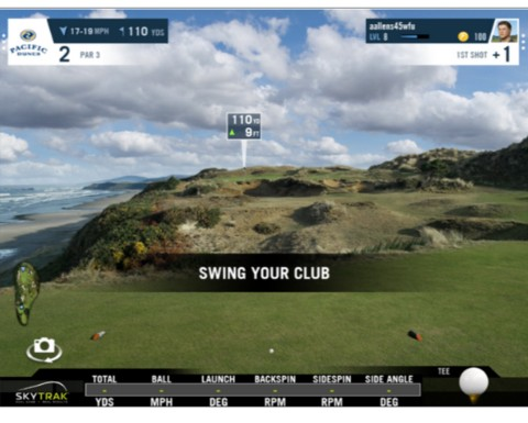 Skytrak play improve software with wgt golf courses
