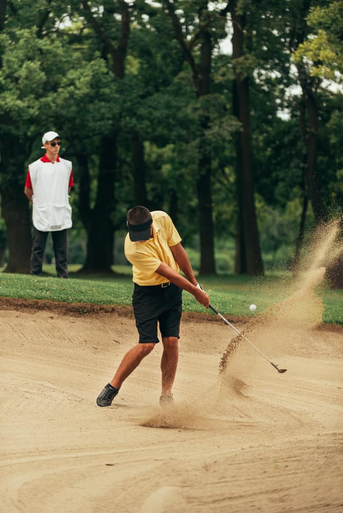 Chipping on sand bunker