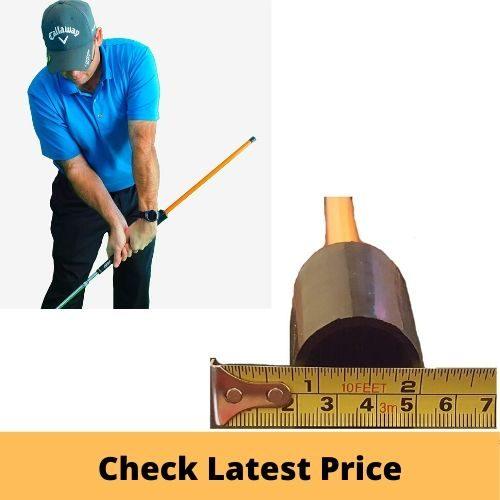 Anti-flip stick impact golf swing training aid
